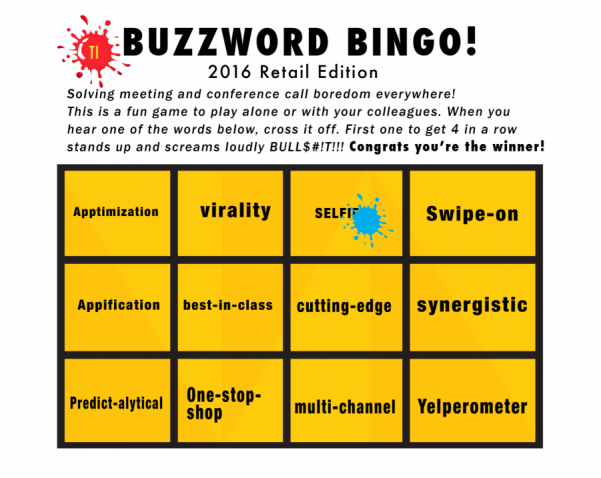 It's Time to Bring Back the Bingo Board: Retailing Buzzwords for 2016