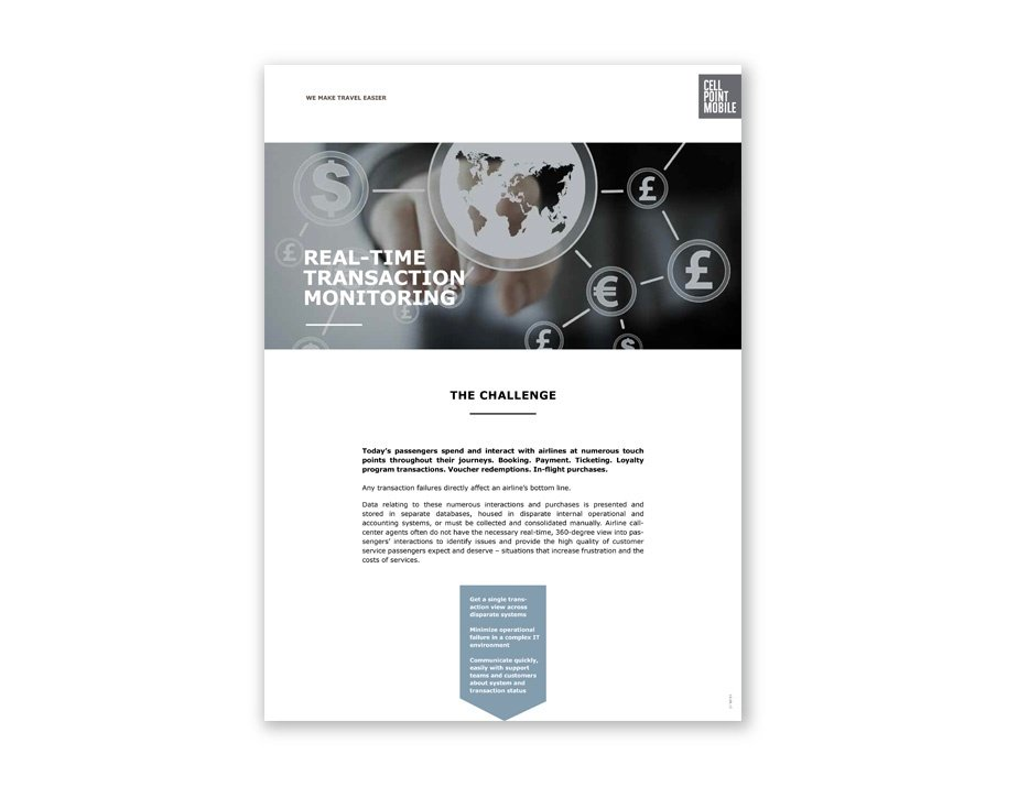 REAL-TIME TRANSACTION MONITORING Handout